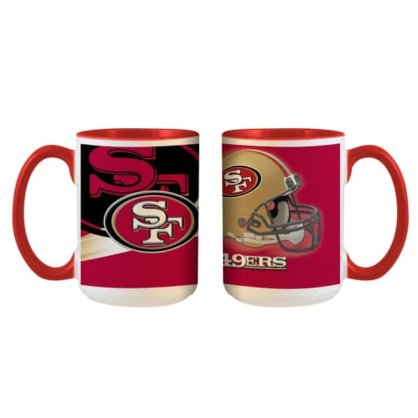 San Francisco 49ers 3D Inner Color Jumbo NFL Becher (440 ml)