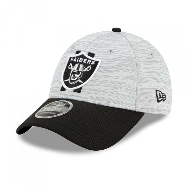 Las Vegas Raiders 2021 NFL Offical Training New Era Stretch-Snap 9FORTY Cap