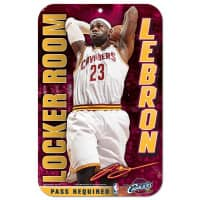 LeBron James Cleveland Cavaliers Locker Room NBA Schild