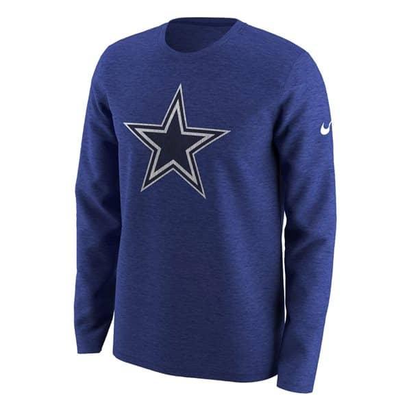 size 40 5c906 40385 Nike Dallas Cowboys Historic Crackle NFL Long Sleeve Shirt Blue   TAASS.com  Fan Shop