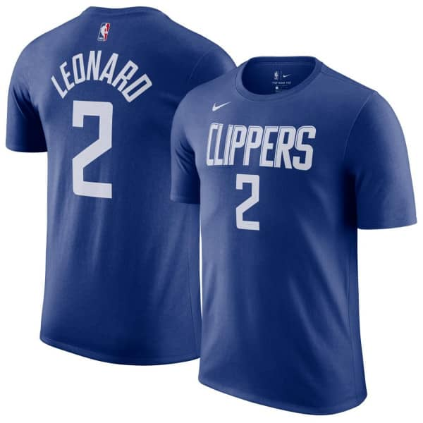 Kawhi Leonard #2 Los Angeles Clippers Nike Icon NBA T-Shirt Blau