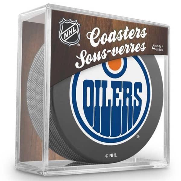 Edmonton Oilers NHL Eishockey Puck Untersetzer (4er Set)