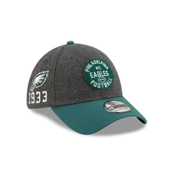 Philadelphia Eagles 2019 NFL On-Field Sideline 39THIRTY Stretch Cap Home