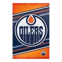 Edmonton Oilers Team Logo Eishockey NHL Poster