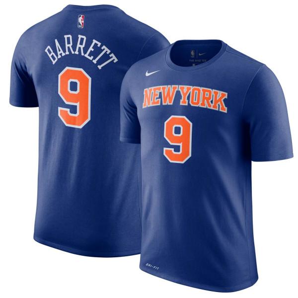 RJ Barrett #9 New York Knicks Player NBA T-Shirt Blau