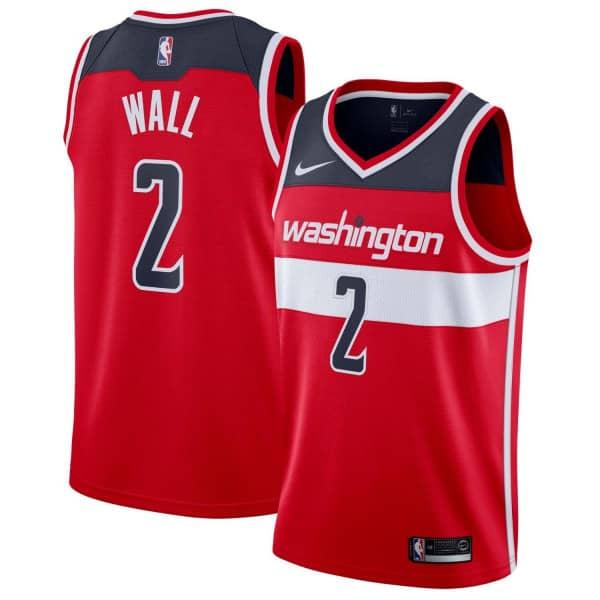 big sale 7f476 bcc6d John Wall #2 Washington Wizards Icon Swingman NBA Jersey Red