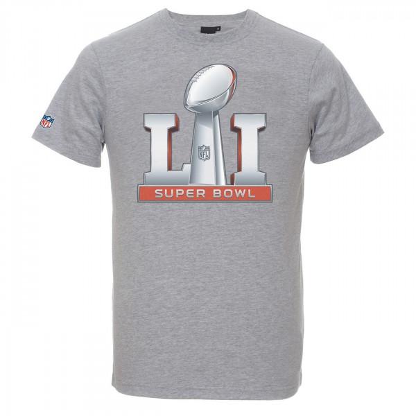 Super Bowl LI (2017) Logo NFL T-Shirt Grau