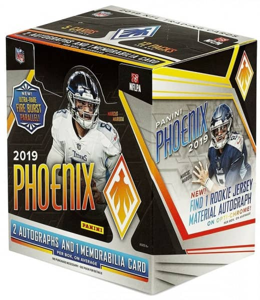 2019 Panini Phoenix Football Hobby Box NFL