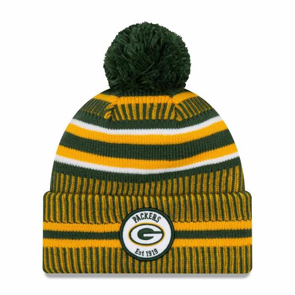 Green Bay Packers 2019 NFL Sideline Sport Knit Wintermütze Home