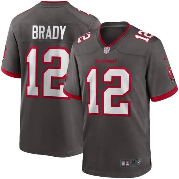 Tom Brady #12 Tampa Bay Buccaneers Nike Game NFL Trikot Alternate Dunkelgrau