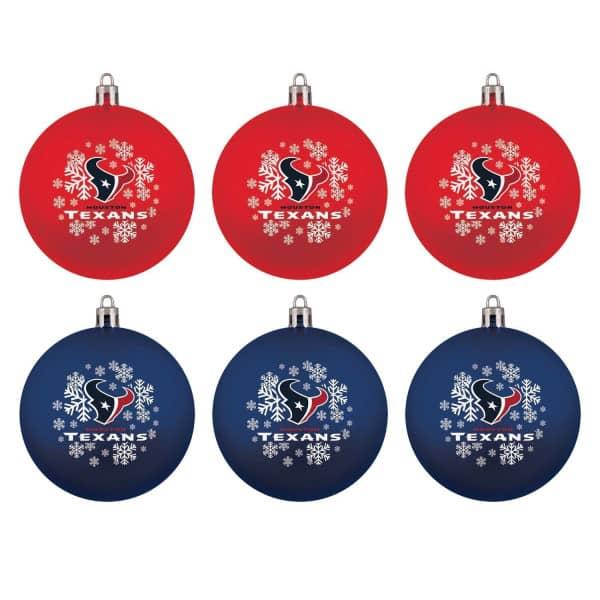 Houston Texans NFL Weihnachtskugeln Geschenk-Set (6-Teilig)