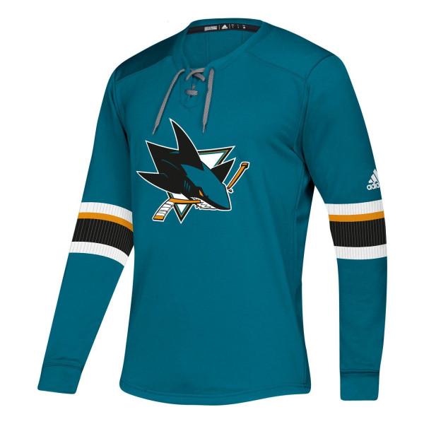 San Jose Sharks NHL Platinum Long Sleeve Trikot