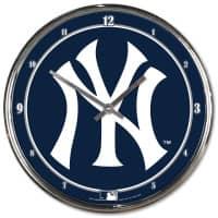 New York Yankees Chrome MLB Wanduhr