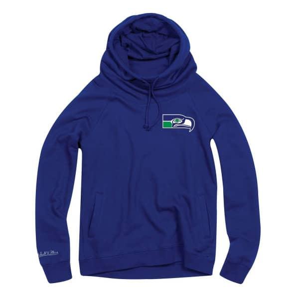 Seattle Seahawks Funnel Neck Pullover NFL Hoodie (DAMEN)