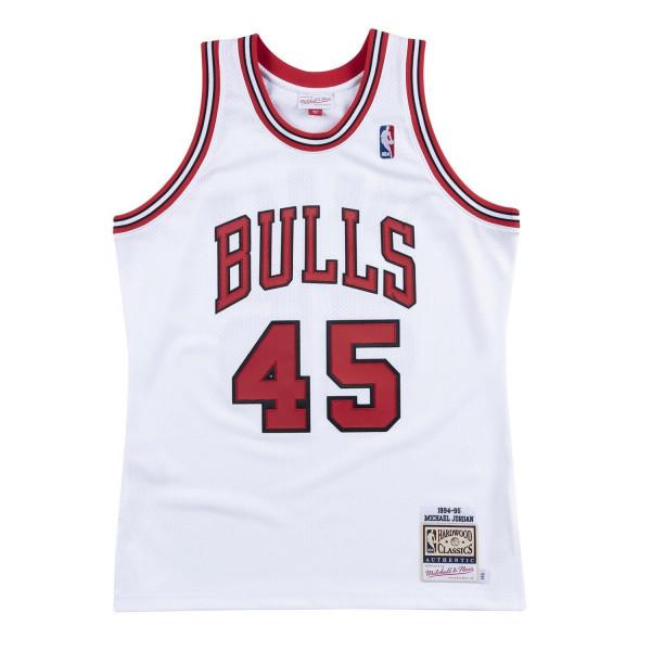 Michael Jordan #45 Chicago Bulls 1994-95 Authentic NBA Trikot Weiß