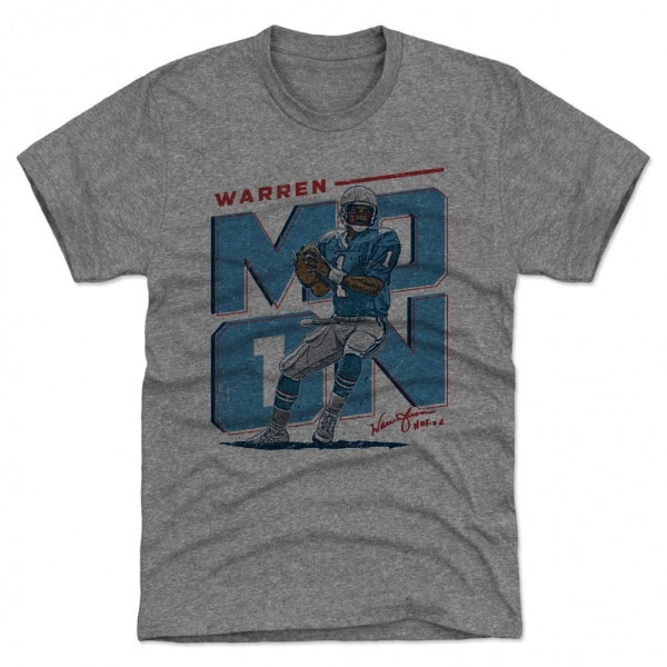 Warren Moon Houston Initials Throwback NFL T-Shirt