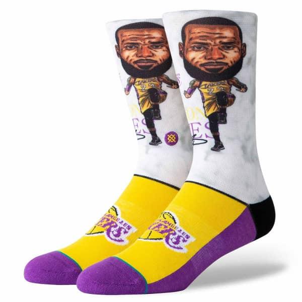 Los Angeles Lakers LeBron James Big Head NBA Socken