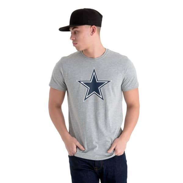 Dallas Cowboys Team Logo Football NFL T-Shirt Grau