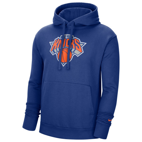 New York Knicks Essential Logo Nike NBA Sweatshirt Hoodie Blau