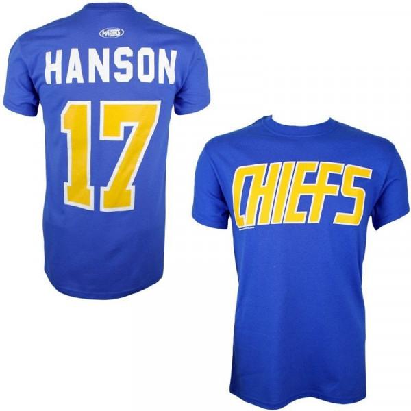 Slapshot Charlestown Chiefs Steve Hanson #17 Eishockey T-Shirt