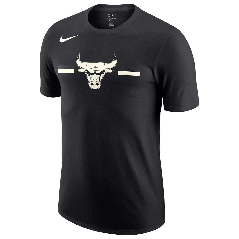 Nike Chicago Bulls Black   White Stripes NBA T-Shirt  b9a0a131ce75