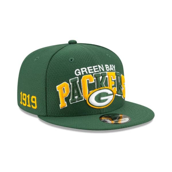 Green Bay Packers 2019 NFL 1990s Sideline 9FIFTY Snapback Cap Home