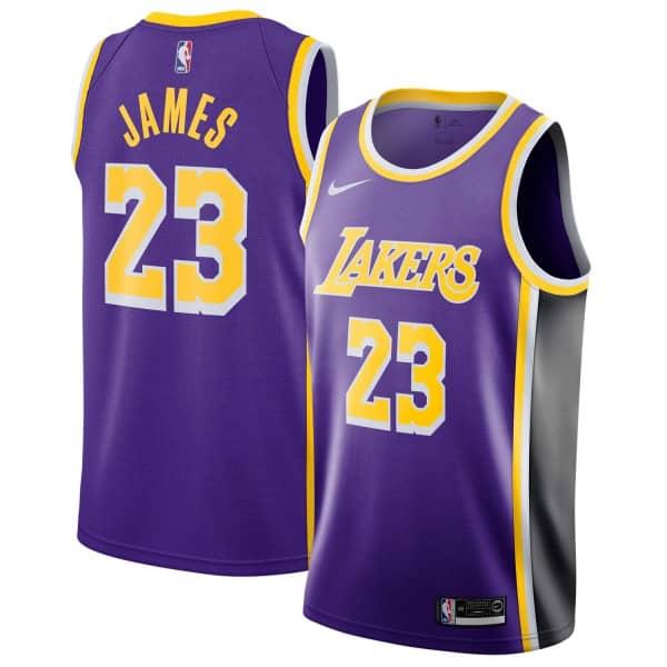 LeBron James #23 Los Angeles Lakers Statement Swingman NBA Trikot Lila