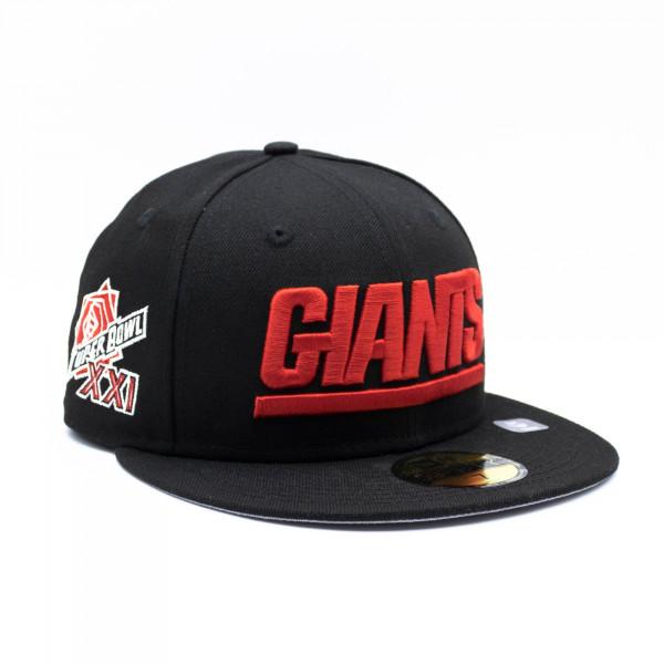 New York Giants Super Bowl XXI New Era 59FIFTY Fitted NFL Cap Schwarz
