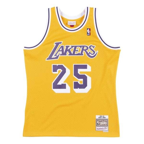 Eddie Jones #25 Los Angeles Lakers 1994-95 Swingman NBA Trikot Gelb