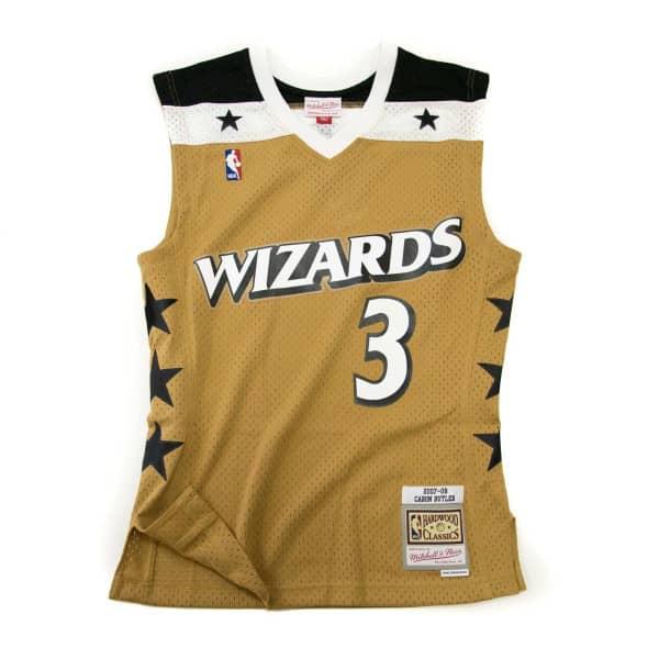 Caron Butler #3 Washington Wizards 2007-08 Mitchell & Ness Swingman NBA Trikot Gold