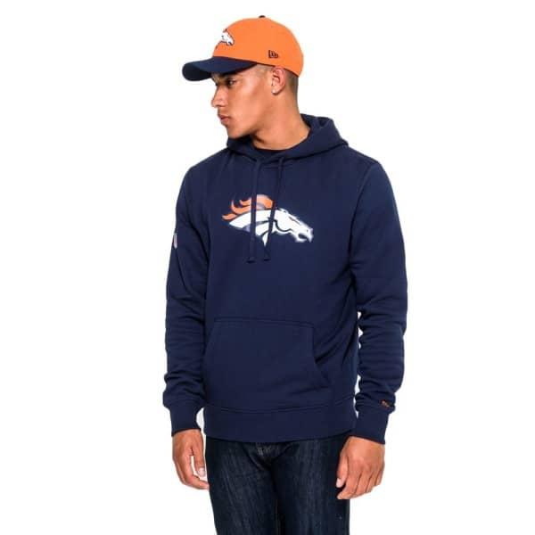 Denver Broncos Logo Hoodie NFL Sweatshirt Navy