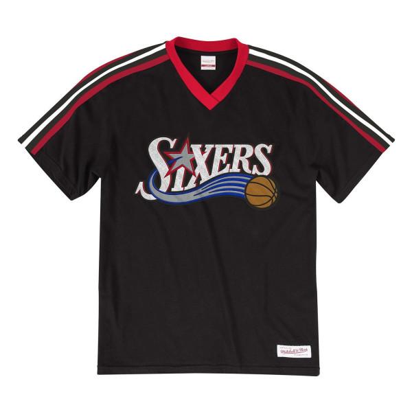 premium selection 84906 f7228 Mitchell   Ness Philadelphia 76ers Overtime Win V-Neck NBA T-Shirt Black    TAASS.com Fan Shop