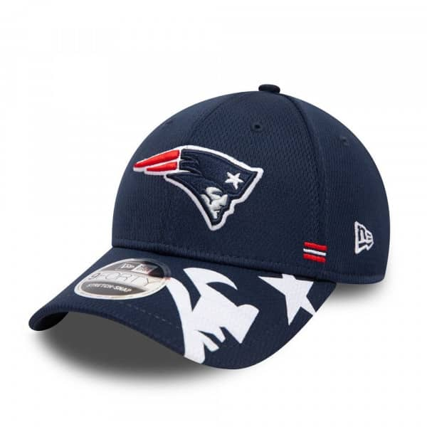New England Patriots Unofficial 2020 NFL Sideline New Era Stretch-Snap 9FORTY Cap Home