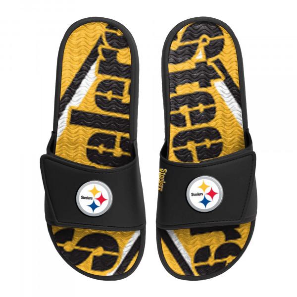 Pittsburgh Steelers NFL Wordmark Gel Badelatschen