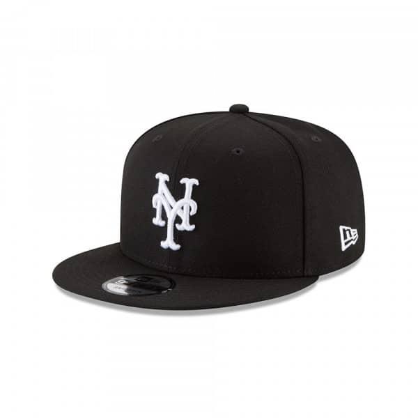 New York Mets Black & White 9FIFTY Snapback MLB Cap