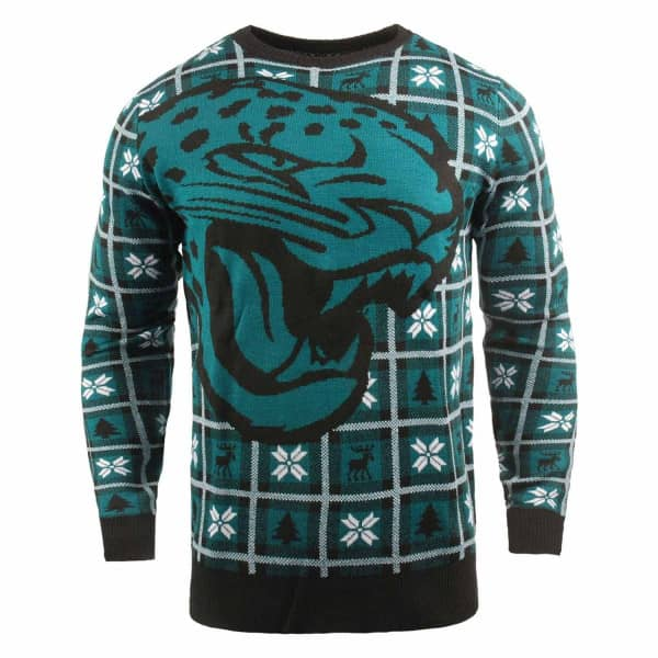 Jacksonville Jaguars Big Logo NFL Ugly Holiday Sweater
