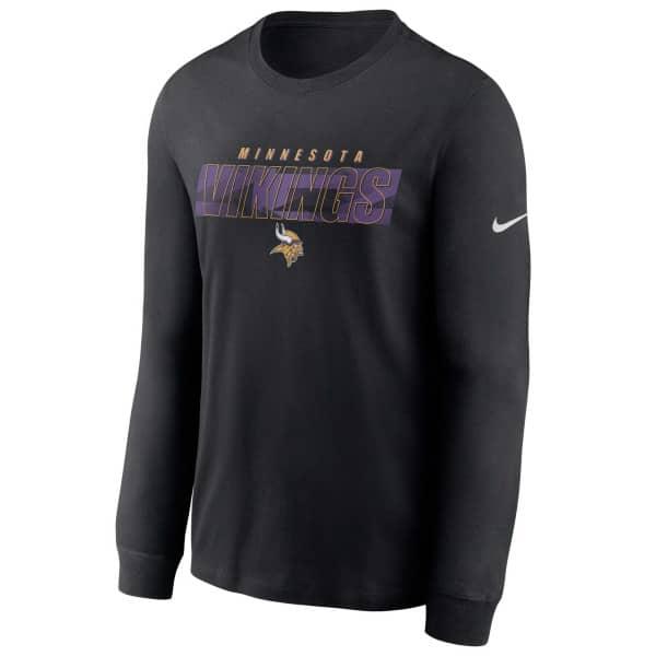 Minnesota Vikings Playbook Nike Long Sleeve NFL Shirt Schwarz