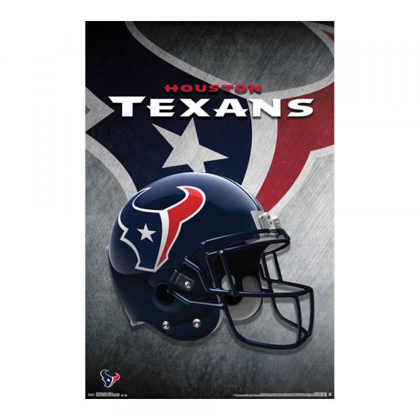 Houston Texans Helmet Football NFL Poster