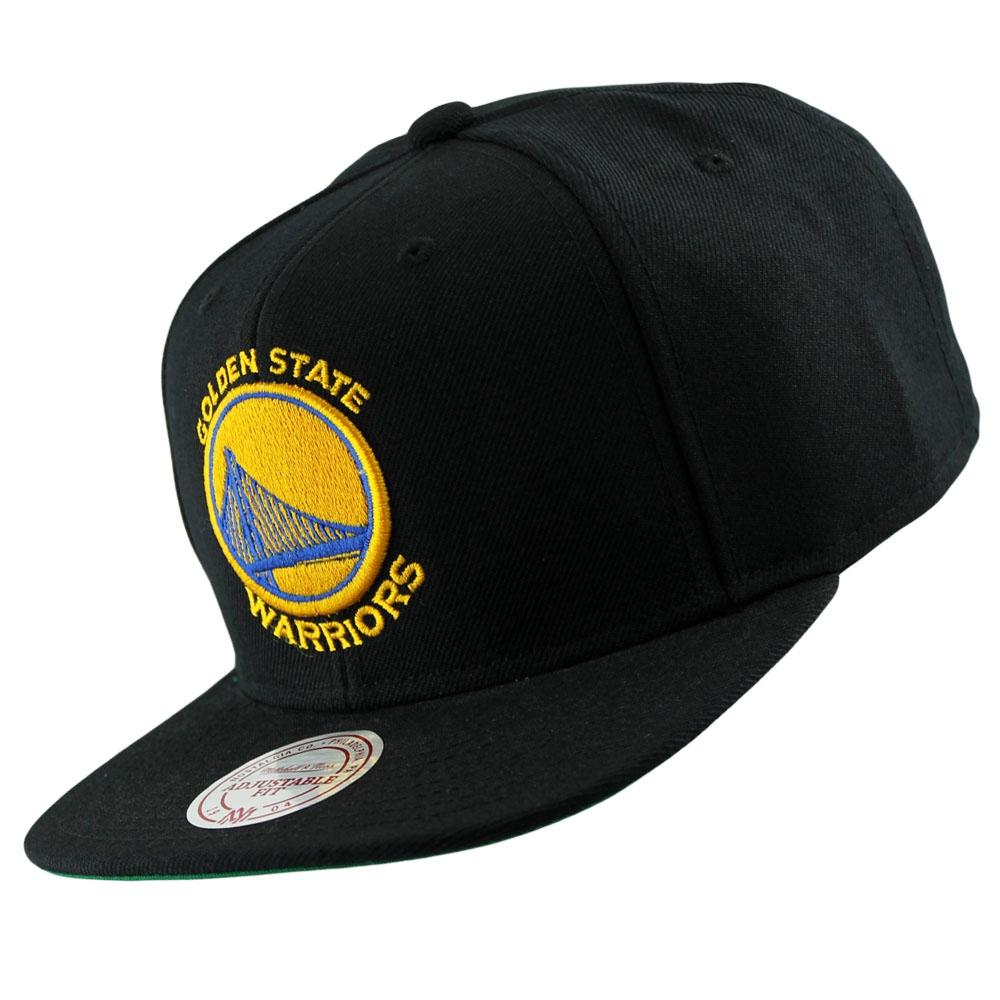 release date: a0104 00e57 Mitchell   Ness Golden State Warriors Wool Solid Snapback NBA Cap Schwarz    TAASS.com Fan Shop