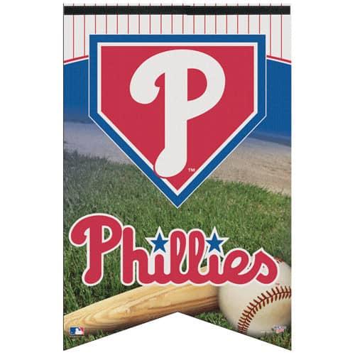 Philadelphia Phillies Premium Felt Baseball MLB Banner