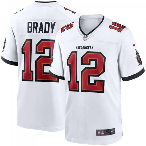 Tom Brady #12 Tampa Bay Buccaneers Nike Game NFL Football Trikot Weiß