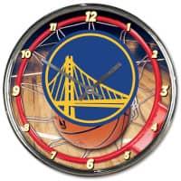 Golden State Warriors Chrome NBA Wanduhr