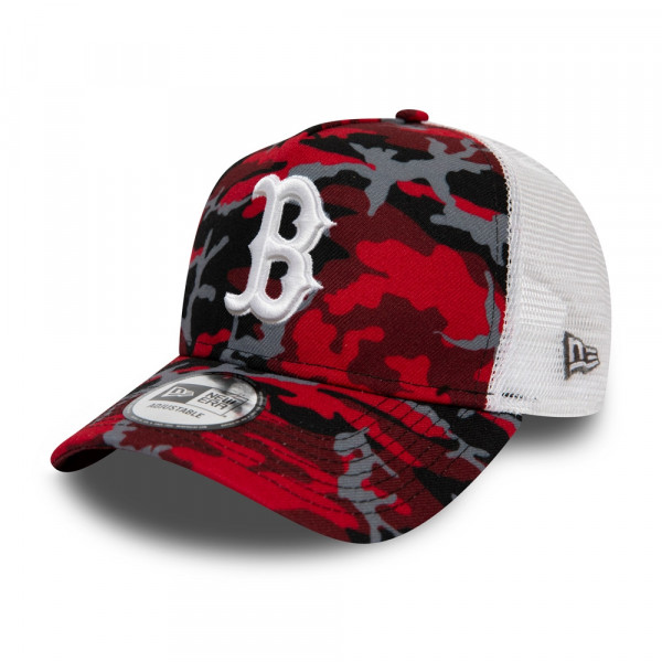 9e47b05c98 New Era Boston Red Sox Red Camouflage Trucker Adjustable MLB Cap ...
