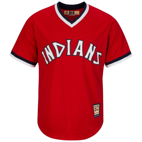 Cleveland Indians 1974 Cooperstown Cool Base MLB Trikot Rot