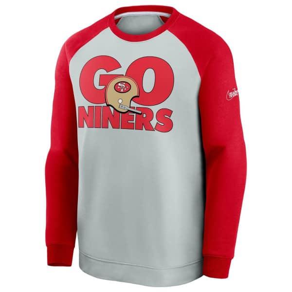 San Francisco 49ers GO NINERS Nike Throwback NFL Crewneck Pullover