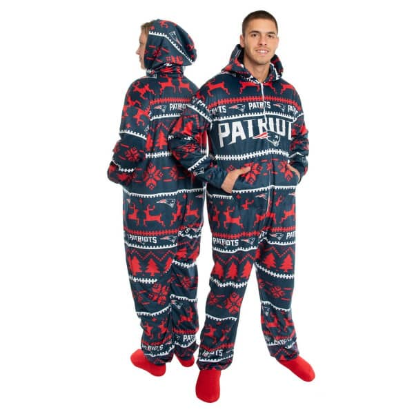 New England Patriots Holiday One Piece NFL Schlafanzug