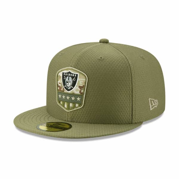 Las Vegas Raiders 2019 On-Field Salute to Service 59FIFTY NFL Cap