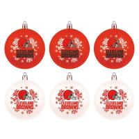 Cleveland Browns NFL Weihnachtskugeln Geschenk-Set (6-Teilig)