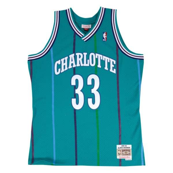 Alonzo Mourning #33 Charlotte Hornets 1992-93 Swingman NBA Trikot