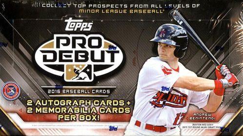 2016 Topps Pro Debut Minor League Baseball Hobby Box